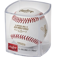 2018 World Series Los Angeles Dodgers Rawlings Official Two (2) Baseball Set With Display Cubes
