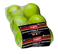 "Rawlings Sporting Goods 11"" Official League Softball Six Pack YWCS11SW6"