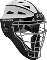 Rawlings VELO Softball Protective Hockey Style Catcher's Helmet Adult Black/White