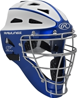 Rawlings VELO Softball Protective Hockey Style Catcher's Helmet Adult Royal/White