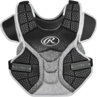 Rawlings Softball Protective Velo Chest Protector 14 inch Black/White