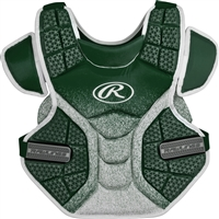Rawlings Softball Protective Velo Chest Protector 14 inch Dk Green/White