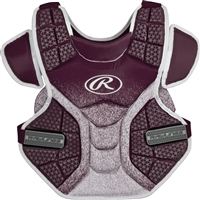 Rawlings Softball Protective Velo Chest Protector 14 inch Maroon/White