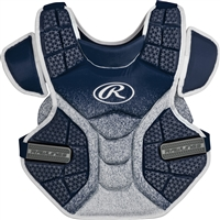 Rawlings Softball Protective Velo Chest Protector 14 inch Navy/White