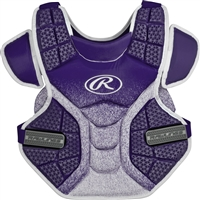 Rawlings Softball Protective Velo Chest Protector 14 inch Purple/White