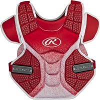 Rawlings Softball Protective Velo Chest Protector 14 inch Scarlet/White