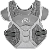 Rawlings Softball Protective Velo Chest Protector 14 inch Silver/White