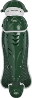 Rawlings Softball Protective Velo Leg Guards 17 inch Dk Green/White