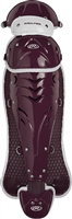 Rawlings Softball Protective Velo Leg Guards 17 inch Maroon/White