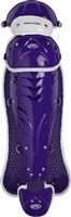 Rawlings Softball Protective Velo Leg Guards 17 inch Purple/White