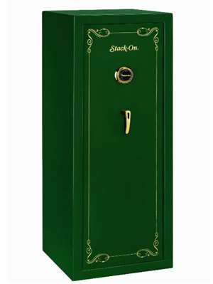 Stack-On SS-16-MG-C 16 Gun Security Safe with Combination Lock, Matte Green