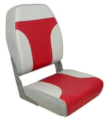 Springfield Economy Coach Folding High Back - Red-Gray  Boat Seat