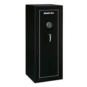 Stack-On SS-16-MB-E 16-Gun, Electronic Lock, Matte Black