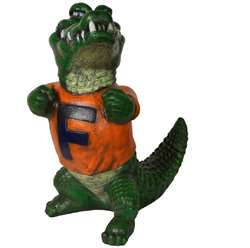 University of Florida Gators Stone Mascot - Painted