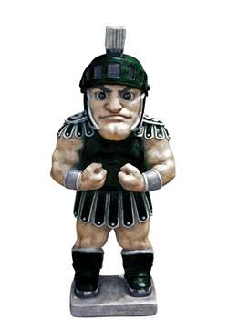 Michigan State University Spartans Sparty Painted Stone Mascot