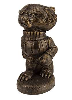 University of Wisconsin Badgers Bucky Badger Bronze Finish Stone Mascot