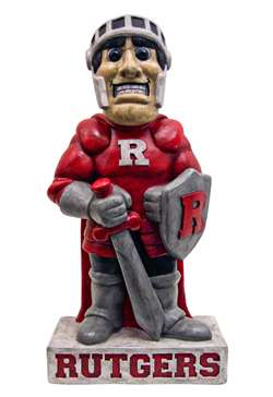Rutgers University Scarlet Knight Painted Stone Mascot