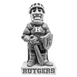 Rutgers University Scarlet Knight Vintage Finish Stone Mascot