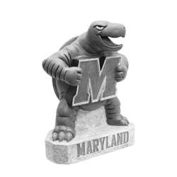 University of Maryland Terrapins Terp Vintage Finish Stone Mascot