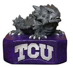 TCU Texas Christian University Horned Frogs Painted Stone Mascot