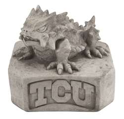 TCU Texas Christian University Horned Frogs Vintage Finish Stone Mascot