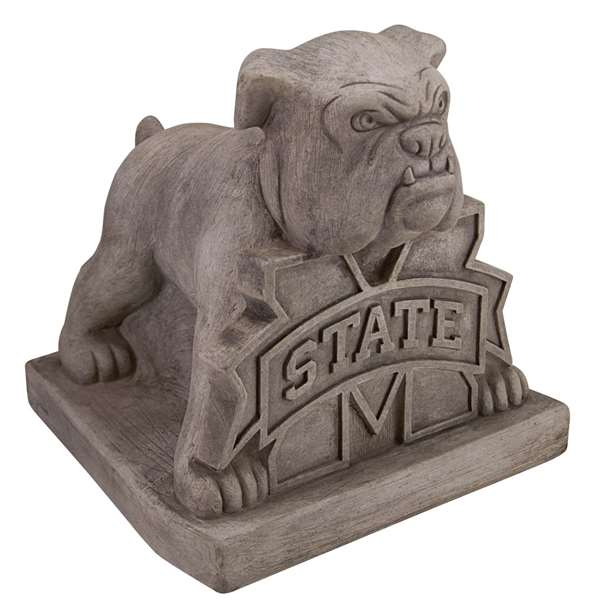 Mississippi State University Bulldogs Vintage Finish Stone Mascot