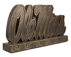 University of Mississippi Ole Miss Bronze Finish Stone Mascot