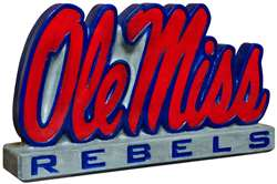 University of Mississippi Ole Miss Painted Stone Mascot