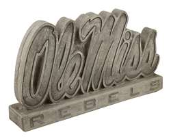 University of Mississippi Ole Miss Vintage Finish Stone Mascot