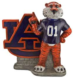 University of Auburn Tigers Aubie Painted Stone Mascot