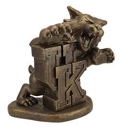 University of Kentucky Wildcats Bronze Finish Stone Mascot