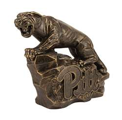 University of Pittsburgh Panthers Pitt Panther Bronze Finish Stone Mascot