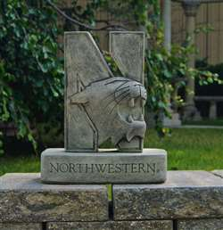 Northwestern University Wildcats N-Cat Vintage Finish Stone Mascot