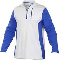 Rawlings Adult Quarter Zip Fleece Pullover WHITE/ROYAL