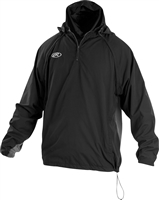 Rawlings Sporting Goods Mens Adult Jacket W Removable Sleeves & Hood Black