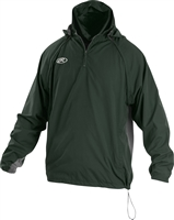 Rawlings Sporting Goods Mens Adult Jacket W Removable Sleeves & Hood Dark Green