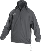 Rawlings Sporting Goods Mens Adult Jacket W Removable Sleeves & Hood Graphite