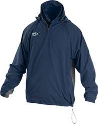 Rawlings Sporting Goods Mens Adult Jacket W Removable Sleeves & Hood Navy