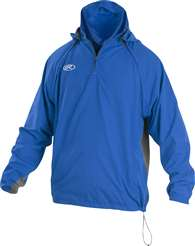 Rawlings Sporting Goods Mens Adult Jacket W Removable Sleeves & Hood Royal Blue