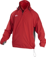 Rawlings Sporting Goods Mens Adult Jacket W Removable Sleeves & Hood Scarlet