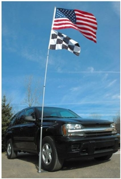 Flagpole To Go Ultimate Tailgaters Package With 14-Foot Portable Flagpole