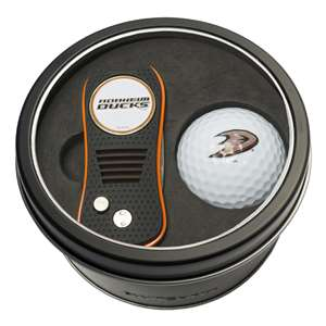 Anaheim Ducks Golf Tin Set - Switchblade, Golf Ball