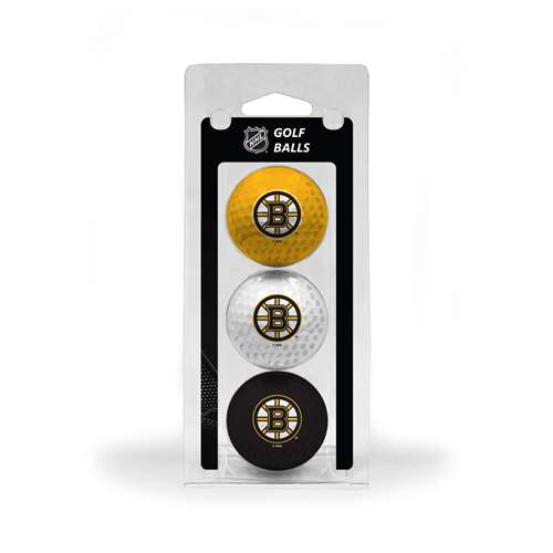 Boston Bruins Golf 3 Ball Pack