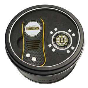 Boston Bruins Golf Tin Set - Switchblade, Golf Chip