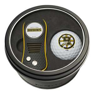 Boston Bruins Golf Tin Set - Switchblade, Golf Ball