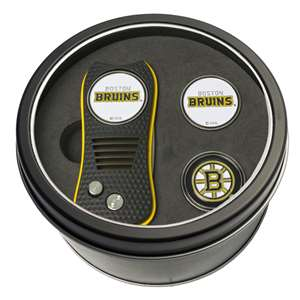 Boston Bruins Golf Tin Set - Switchblade, 2 Markers