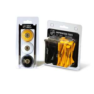 Boston Bruins  3 Golf Balls And 50 Golf Tees