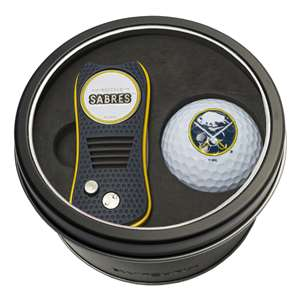 Buffalo Sabres Golf Tin Set - Switchblade, Golf Ball