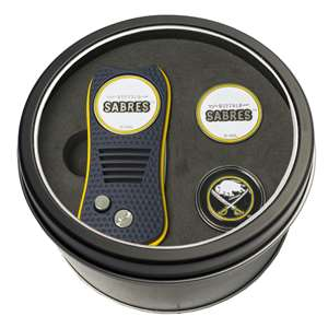 Buffalo Sabres Golf Tin Set - Switchblade, 2 Markers
