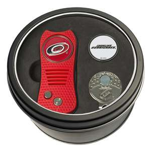 Carolina Hurricanes Golf Tin Set - Switchblade, Cap Clip, Marker